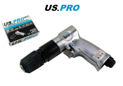 "US PRO 3/8"" KEYLESS REVERSIBLE AIR DRILL CHUCKLESS 8213 - SBW Trading Limited"