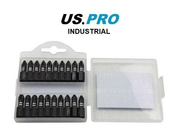 US PRO INDUSTRIAL PACK 20 PH2 PZ2 PZ3 25MM IMPACT TORSION SCREWDRIVER BITS - SBW Trading Limited