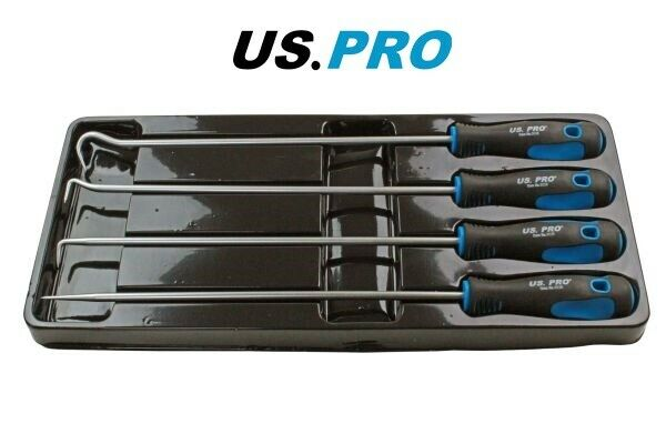 US PRO 4pc Long Pick And Hook Set - Length 380mm 5036 - SBW Trading Limited