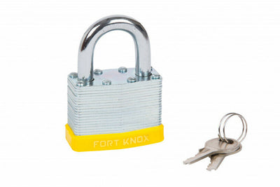 50MM LAMINATED PADLOCK WITH 2 KEYS & LIFETIME WARRANTY - SBW Trading Limited