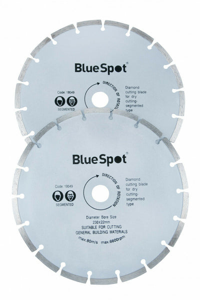 Blue Spot Tools 19549 2 Piece 9 Inch Diamond Cutting Disc Set - SBW Trading Limited