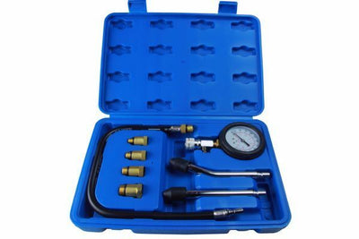 US PRO Compression Tester Gauge Kit For Petrol Engines M10 - M18 Adapters 5386 - SBW Trading Limited