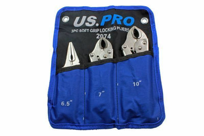 US PRO 3pc Soft Grip Locking Pliers Set - SBW Trading Limited