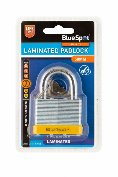 50MM LAMINATED PADLOCK WITH 2 KEYS - SBW Trading Limited