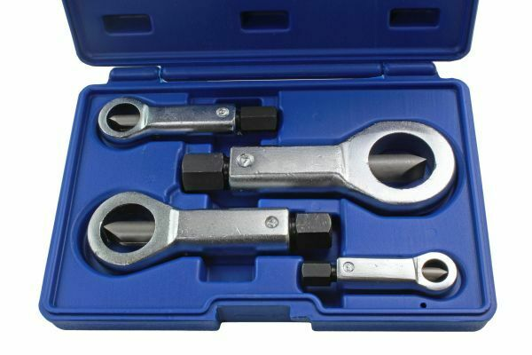 US PRO Tools 4 Nut Splitter Set Remove Broken Corroded Damaged Nut 9 - 36mm - SBW Trading Limited