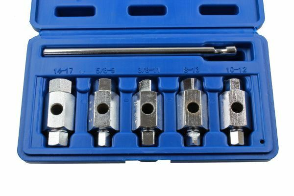 US Pro 6pc Double Ended Drain Sump Plug Key Set - SBW Trading Limited