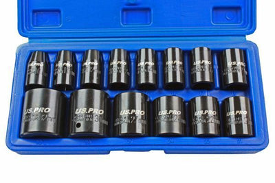 Impact socket, 1/2 10-32 mm, 14 piecesSocket set. - SBW Trading Limited
