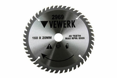 Vewerk 160 X 20 / 16MM 48T TCT Circular Saw Blade 2969 - SBW Trading Limited