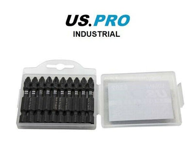 US PRO INDUSTRIAL PACK 10 PH2 50MM IMPACT TORSION SCREWDRIVER BITS - SBW Trading Limited
