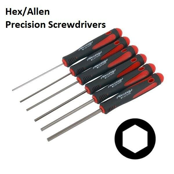 6PC HEX HEAD PRECISION SCREWDRIVERS / METRIC ALLEN KEY SET