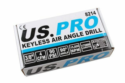 US Pro 3/8 Air Angle Drill Keyless Chuck 8214 - SBW Trading Limited