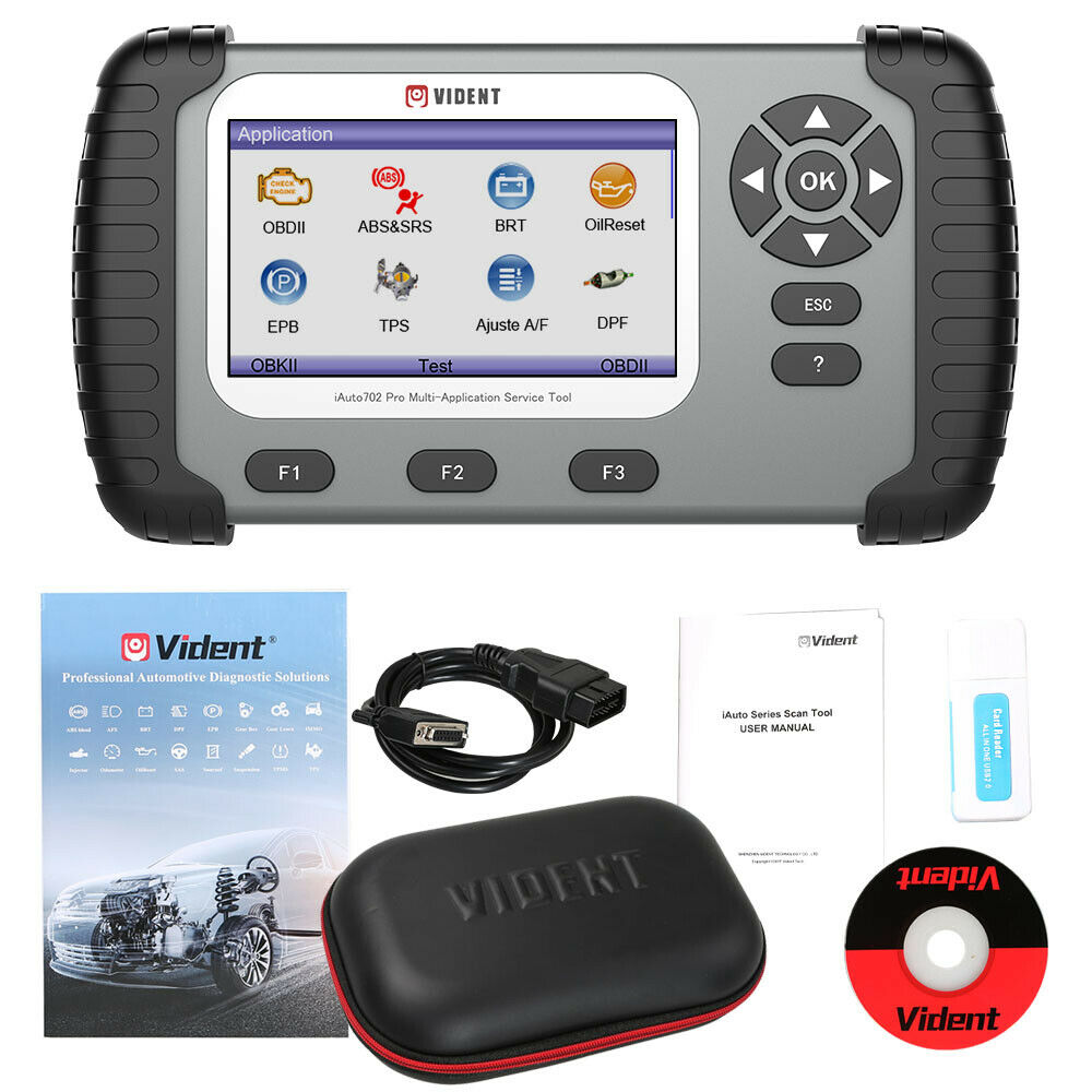 VIDENT iAuto 702 Pro Car Diagnostics Tool OBD2 Scanner ABS SRS DPF EPB TPMS - SBW Trading Limited