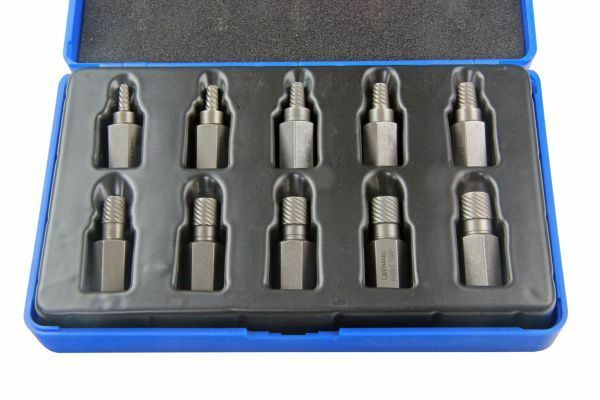 US PRO 10pc Hex Head Multi-Spline extractors, removes Broken Studs etc B2622 - SBW Trading Limited