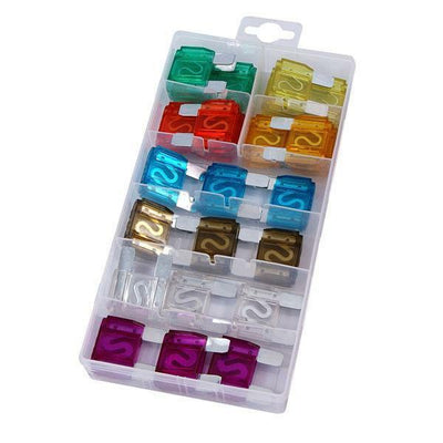 24 Piece Maxi Blade Fuse Assorted Kit Mixed 20 - 100 Amp Car Van Bike CT4102 - SBW Trading Limited