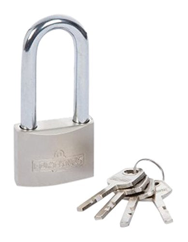 50mm Satin Finish Long Shackle Padlock - SBW Trading Limited