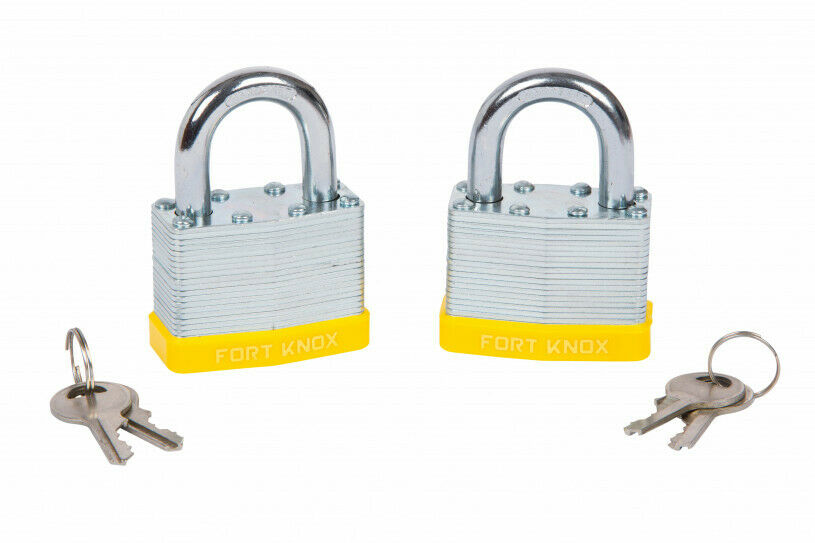2 PCE 50MM LAMINATED KEYED ALIKE PADLOCKS - SBW Trading Limited