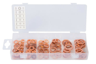 Blue Spot 40506 110 Piece Copper Washers, Set of 110 - SBW Trading Limited