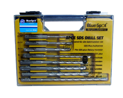 Blue Spot 20168 SDS Drill Sets (8 Pieces) - SBW Trading Limited