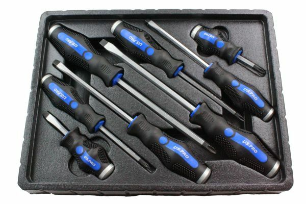 US PRO 8pc Go-Through Screwdriver Set - SBW Trading Limited