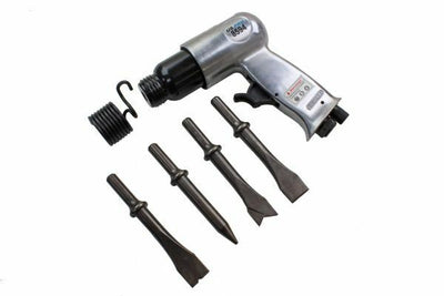 US Pro 150mm Air Hammer/Drill Complete with 4 Air Chisels New 8594 - SBW Trading Limited