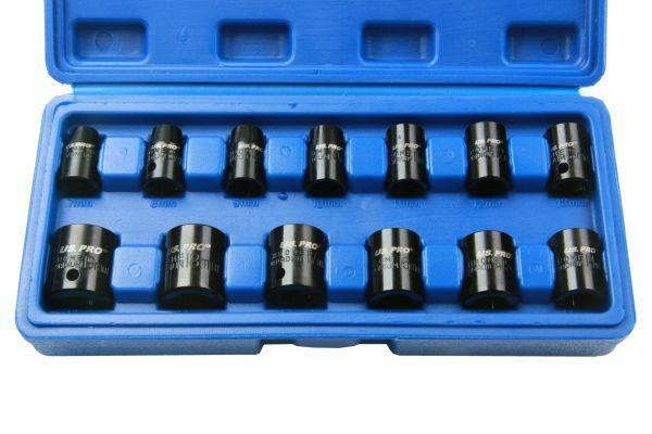 US PRO 13PC 3/8 DR Shallow Impact Sockets Metric 1365 - SBW Trading Limited