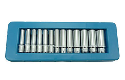 US PRO 13pc 1/4 dr Deep Sockets 4 - 14mm Single Hex 6 Point 1388 - SBW Trading Limited