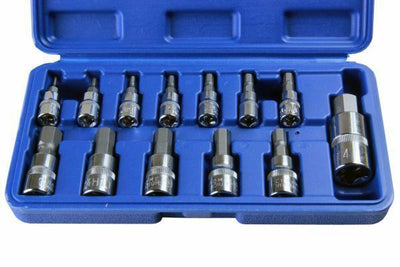 US Pro by Bergen 13pc Metric Hex Bit Socket Set, Mixed Drive, Allen Key, 2097 - SBW Trading Limited