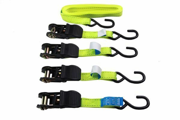 Bergen 4 Piece 25mm x 5 Meters Ratchet Straps Tie Down Set B2895 - SBW Trading Limited