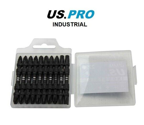 US PRO INDUSTRIAL PK10 MIXED DOUBLE END 65MM IMPACT TORSION S/DRIVER BITS TX PH - SBW Trading Limited