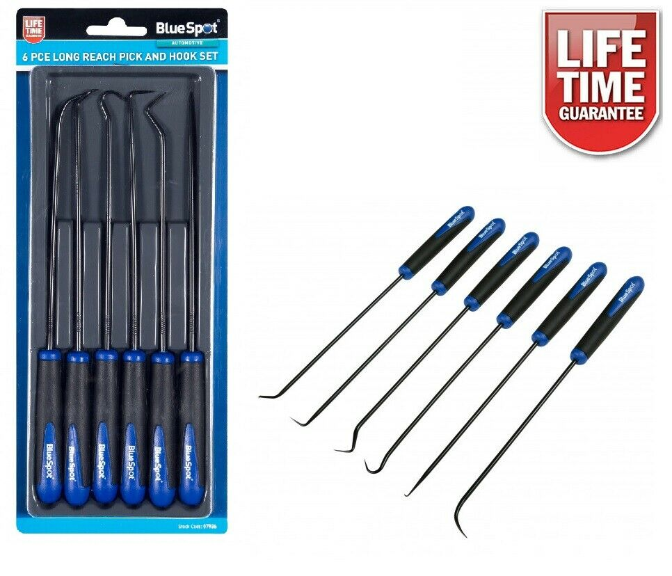 Long Reach Pick And Hook Tool Set O Ring Seal Hose Removal Puller Set 6pc 07926 - SBW Trading Limited