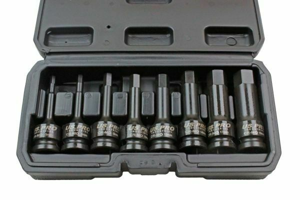 "US PRO INDUSTRIAL 8pc 1/2"" Impact Hex Bit Socket Set Impact Allen Keys 1378 - SBW Trading Limited"