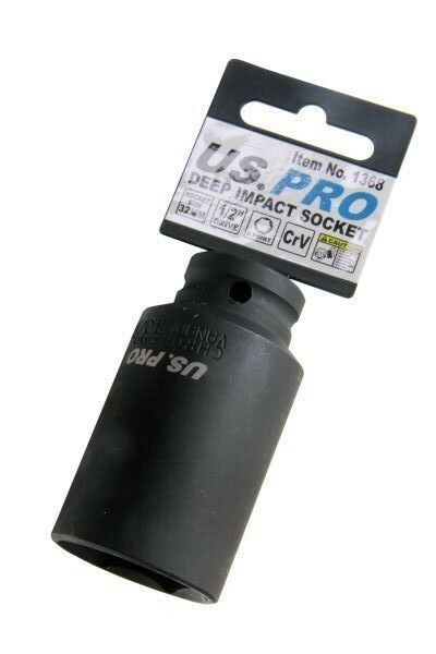 US PRO Single 1/2 Dr 32MM 6 Point Deep Impact Socket 1368 - SBW Trading Limited