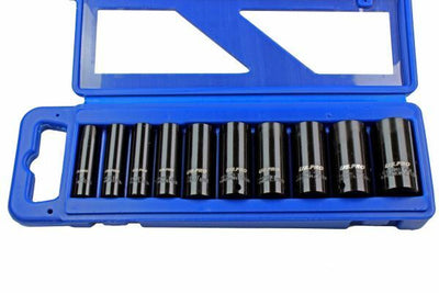 US PRO 10 Piece 3/8 Dr Deep Impact Metric Socket Set 10 - 24mm 1680 - SBW Trading Limited