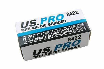 US PRO 1/4 Mini Air Die Grinder 8422 - SBW Trading Limited