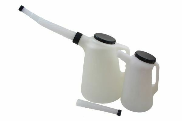 2Pc Small & Large Oil Measuring Jug Set With Flexi Spouts - SBW Trading Limited