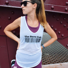 Load image into Gallery viewer, The Barre Code x Glyder Striped Tie-Back Tank