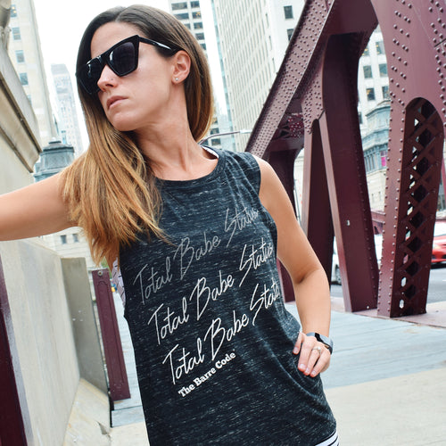 Total Babe Status Flowy Scoop Muscle Tank