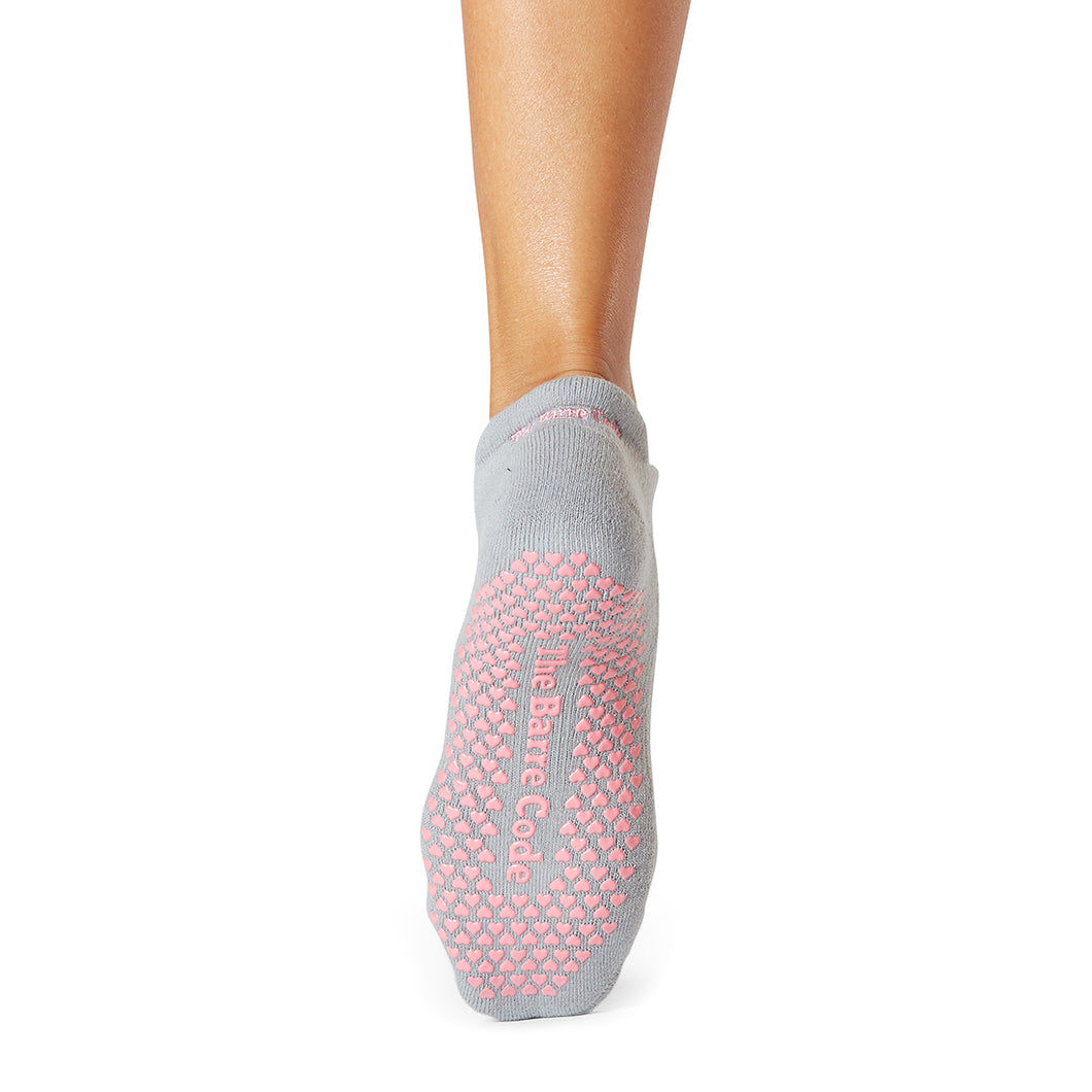 The Barre Code x Tavi Noir Heart Grip Socks