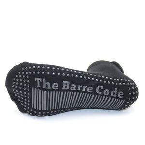 The Barre Code x Tavi Noir Low Rise Black with Gray Grip Socks