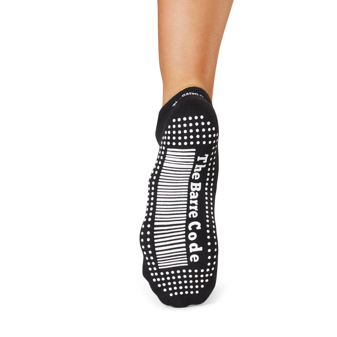 The Barre Code x Tavi Noir Socks - Black/White Grip