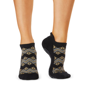 The Barre Code x Tavi Noir Socks - Gold Fair Isle