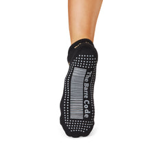 Load image into Gallery viewer, The Barre Code x Tavi Noir Low Rise Floral Ebony Grip Socks