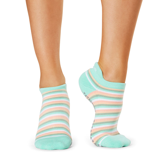 The Barre Code x Tavi Noir Striped Socks
