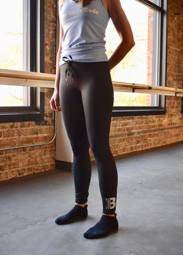 High-Rise Drawstring Leggings
