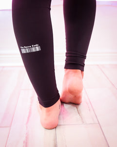 The Barre Code Logo Band High Waisted Leggings