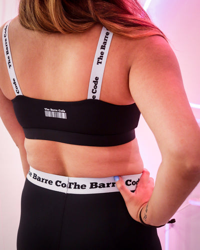 The Barre Code Logo Strap Sports Bra