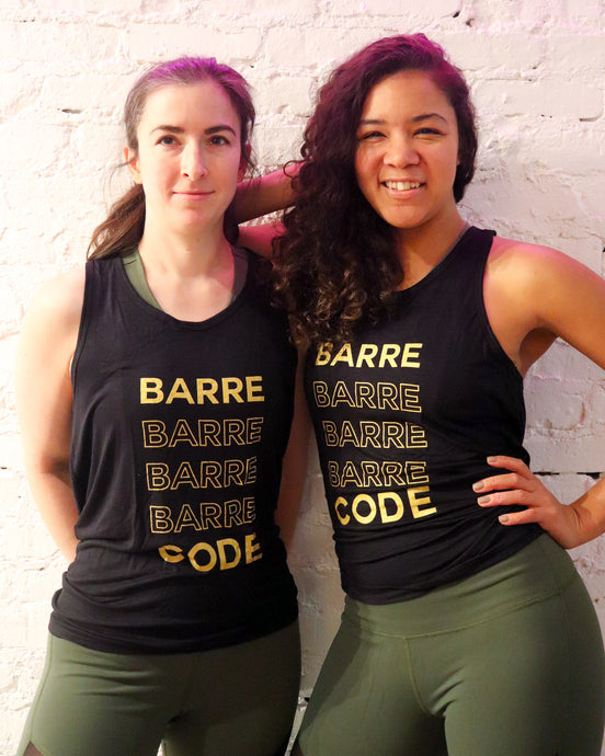 The Barre Code Shimmer Luxe Tie Back Tank
