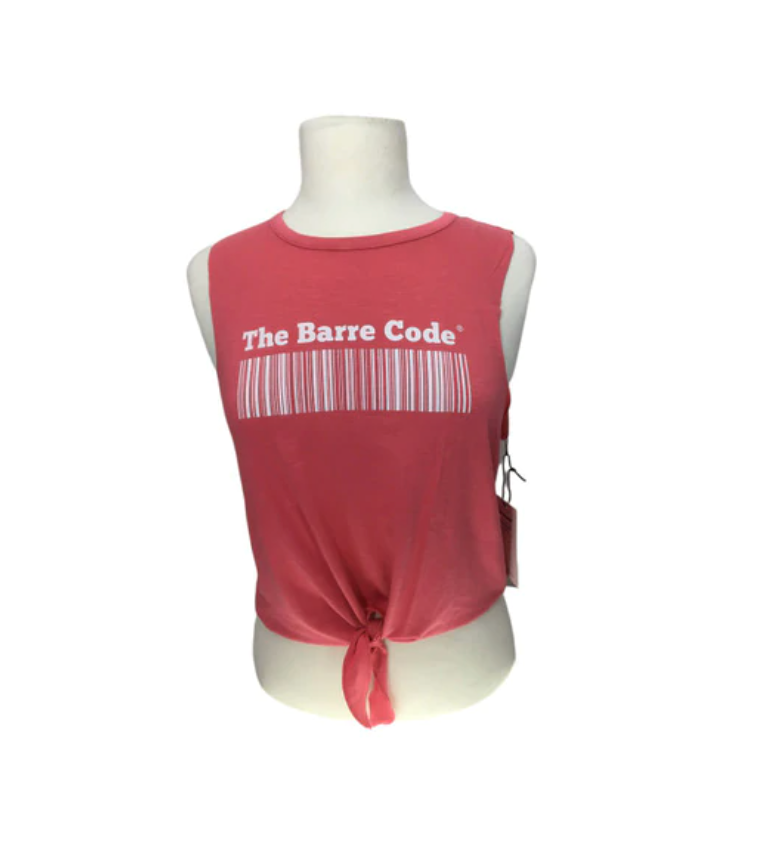 The Barre Code Tie Front Tank
