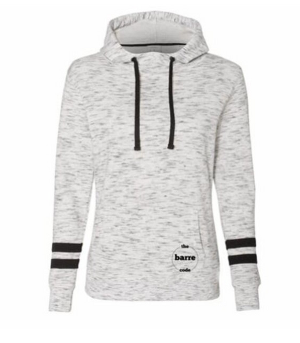 FLEECE STRIPED HOODIE