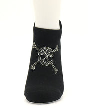 Load image into Gallery viewer, The Barre Code x Tavi Noir Rhinestone Skull Socks